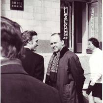 На гастролях. Зліва - Віктор Гуцал, 1976 рік
