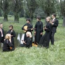 Група кобз та Віктор Гуцал. 80ті.